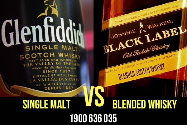 Phân biệt Single Malt vs Blended Whisky